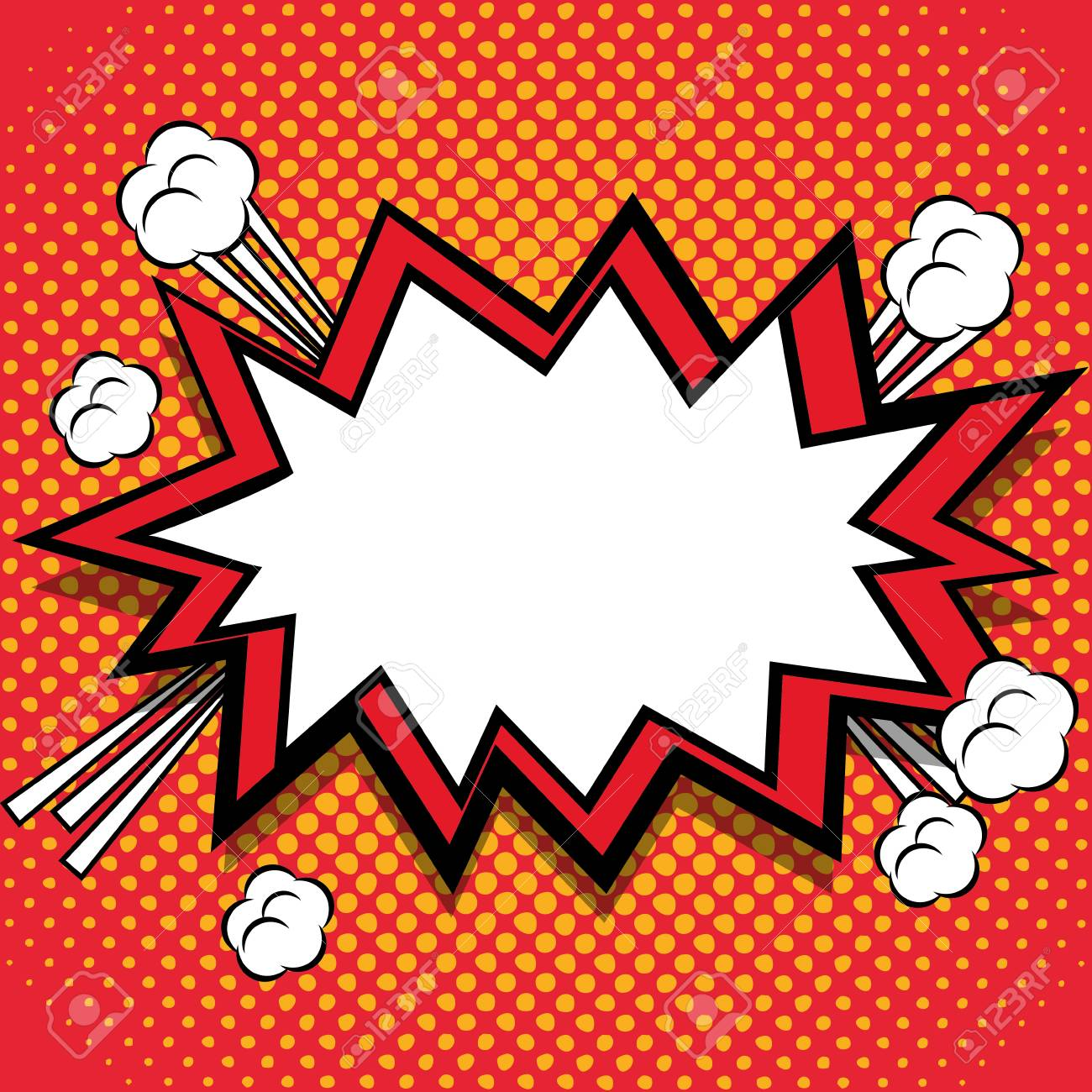 bubble icon retro pop art comic and communication theme colorful