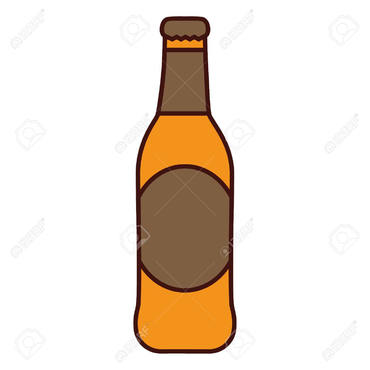 beer bottle icon pub alcohol bar brewery and drink theme isolated rh 123rf com beer bottle vector png beer bottle vector illustrator