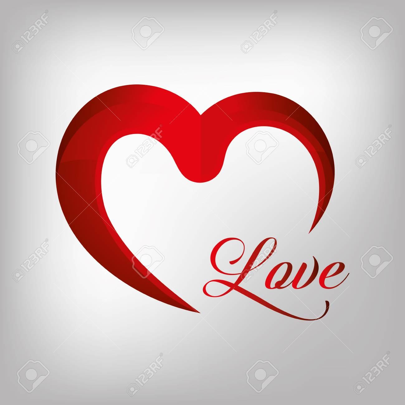 Icono Del Amor Del Corazón Ilustración Vectorial De Diseño Gráfico