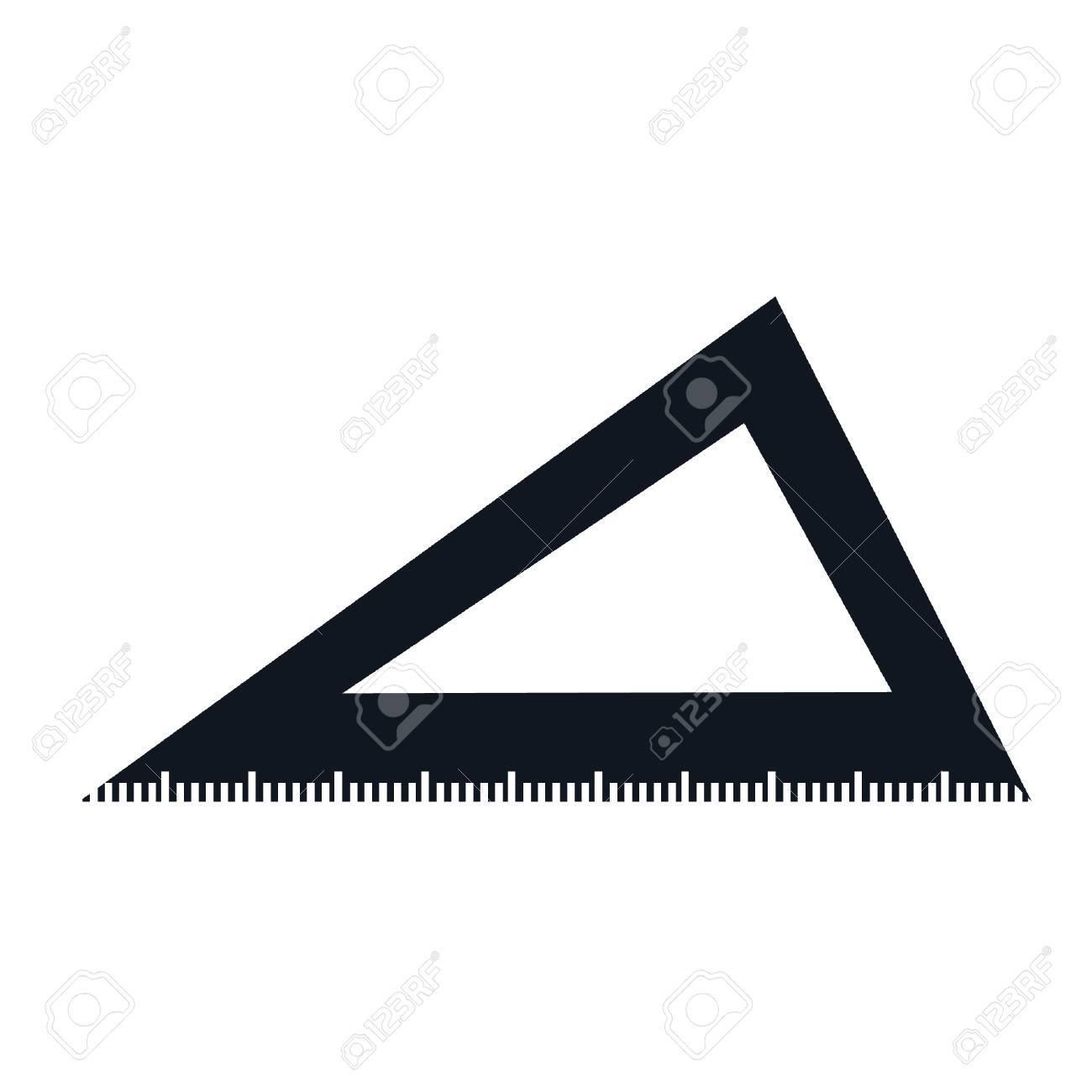 三角定規アイコン ベクトル イラスト グラフィック デザインを分離しま