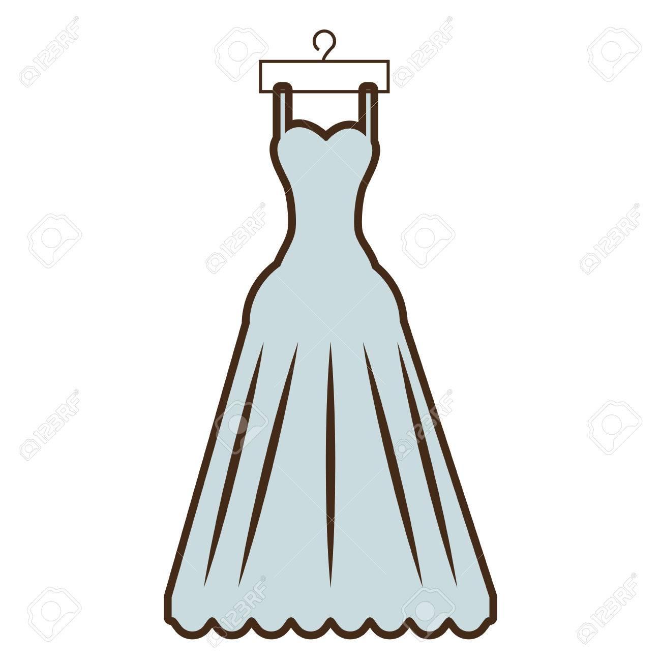 Hermoso Animados Caras Vestido Ilustración Dibujos Novia QCxrtshBod