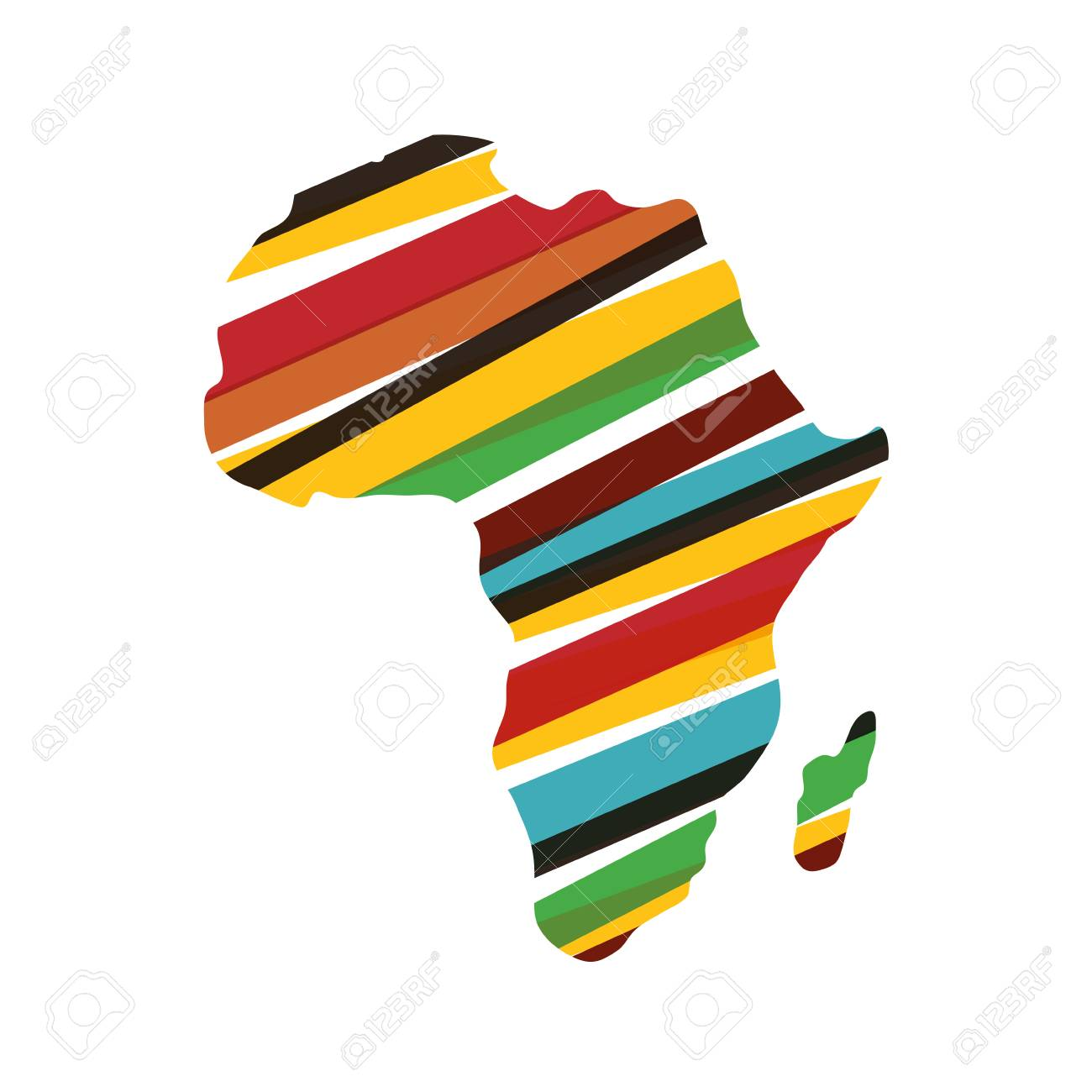 Africa Map Horn Of Africa%0A Africa Map Clipart Africa map silhouette icon vector illustration graphic  design