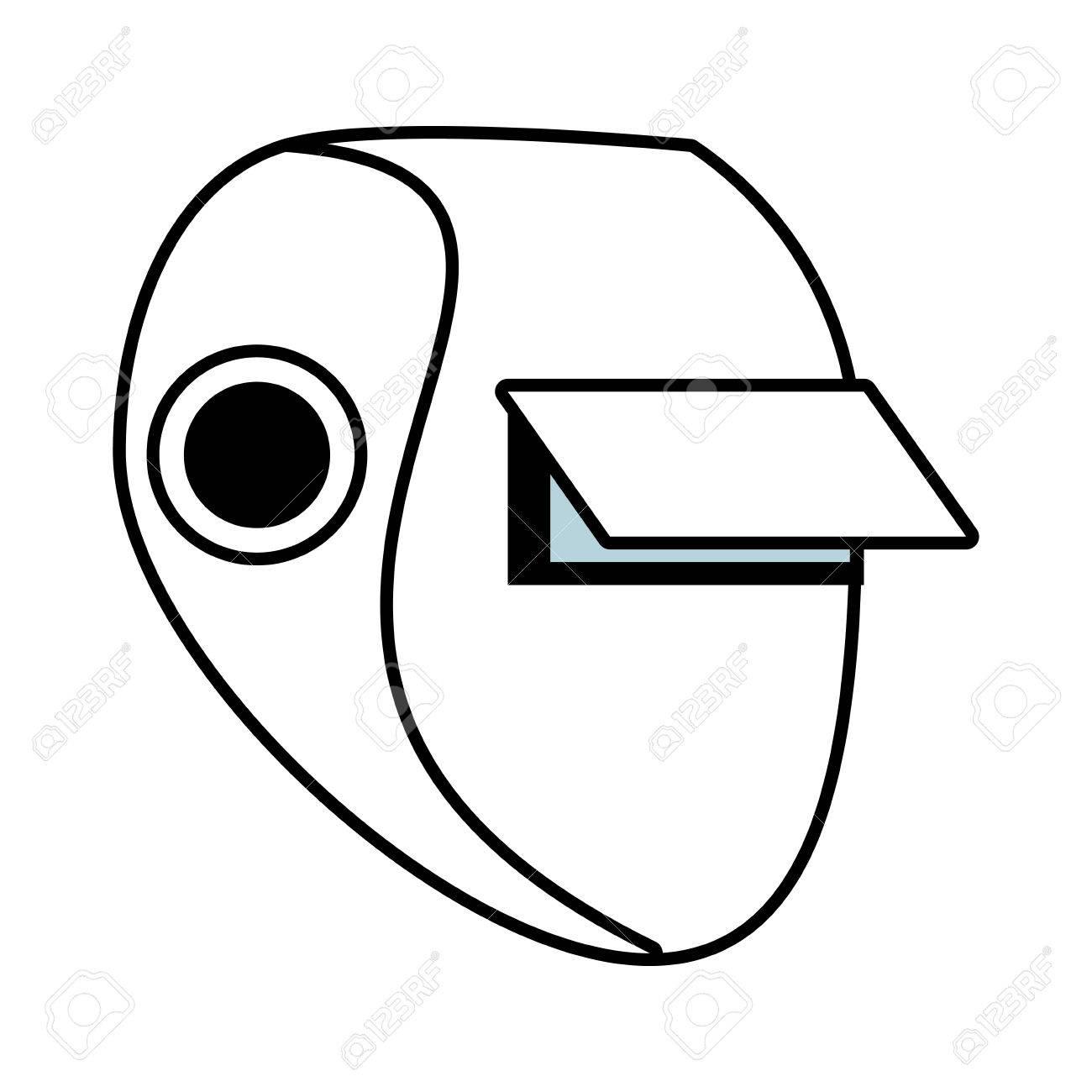 Soldador Esquema De Seguridad Signo Ilustración Vectorial Máscara De ...
