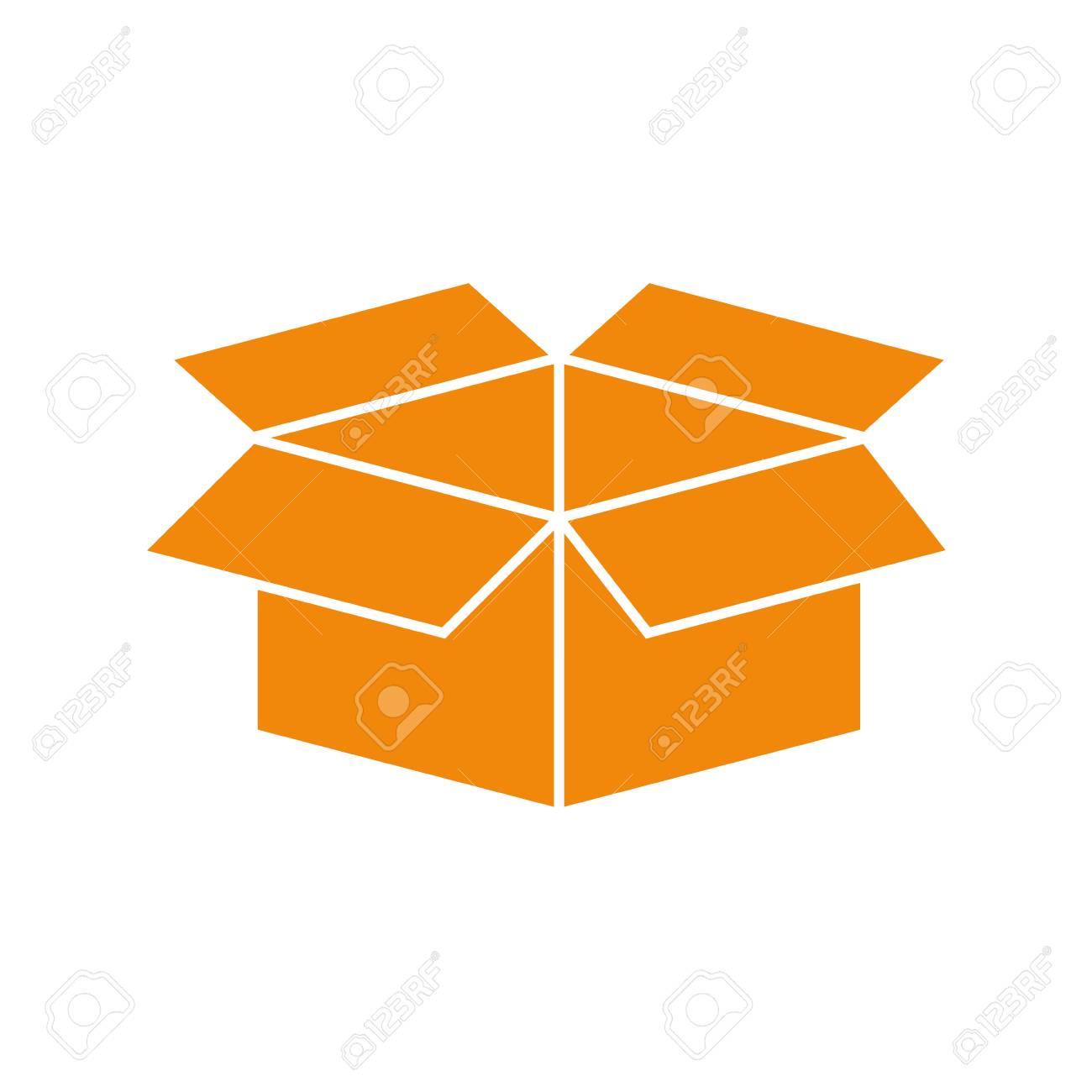 Open Box Symbol Icon Vector Illustration Graphic Design Royalty Free