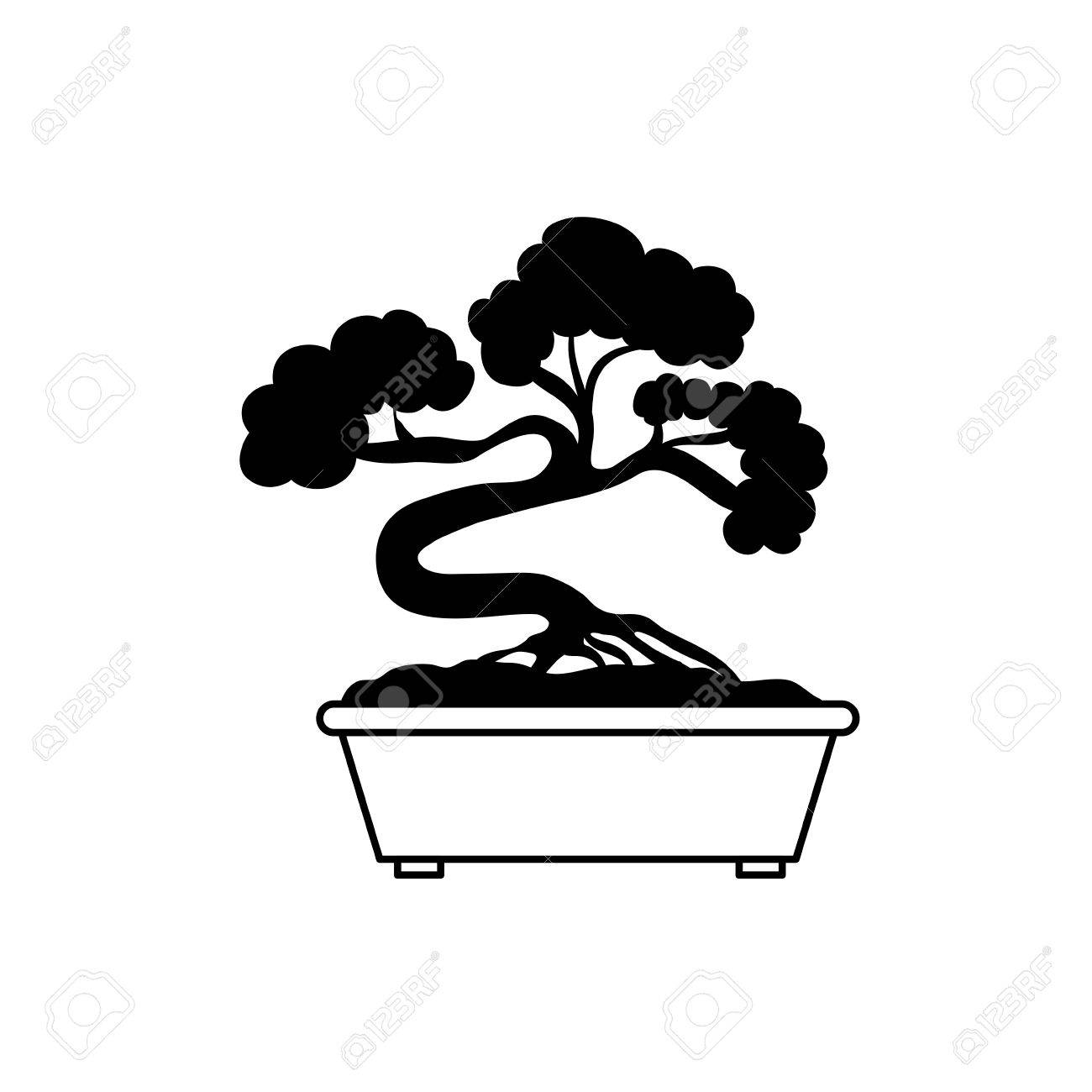 Bonsai Japanese Tree Icon Vector Illustration Graphic Design Royalty Free Cliparts Vectors And Stock Illustration Image 67167003