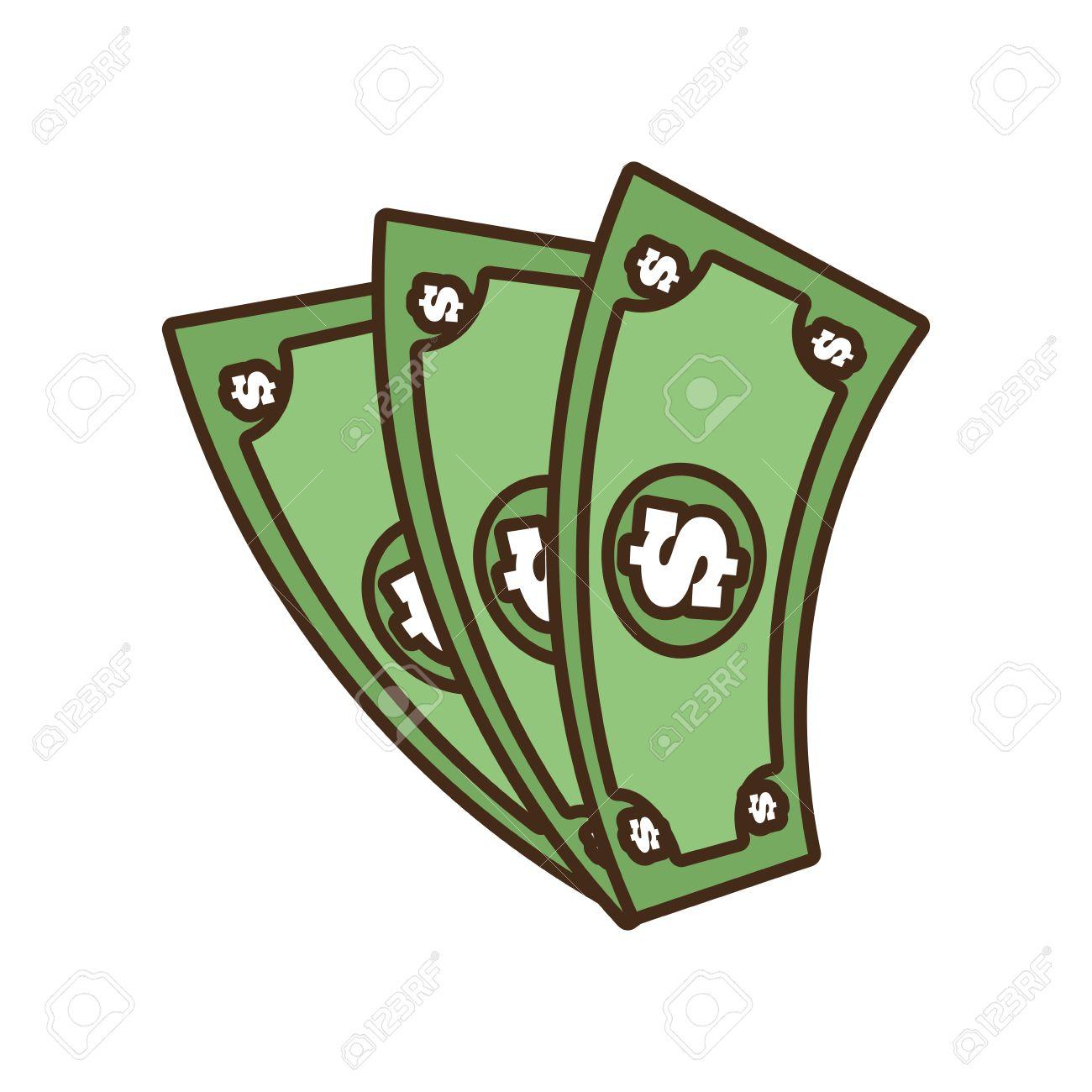 cartoon money bills dollar cash vector illustration eps 10 royalty