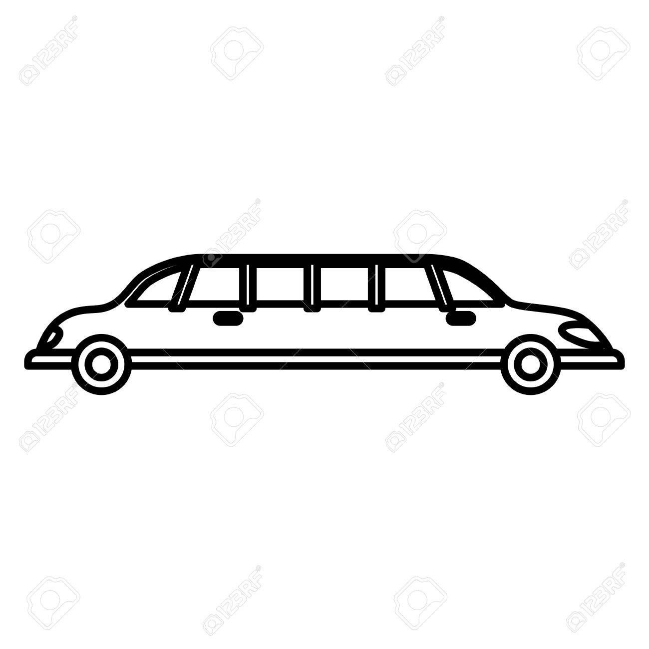 Limousine Luxury Vehicle Icon Vector Illustration Graphic Design