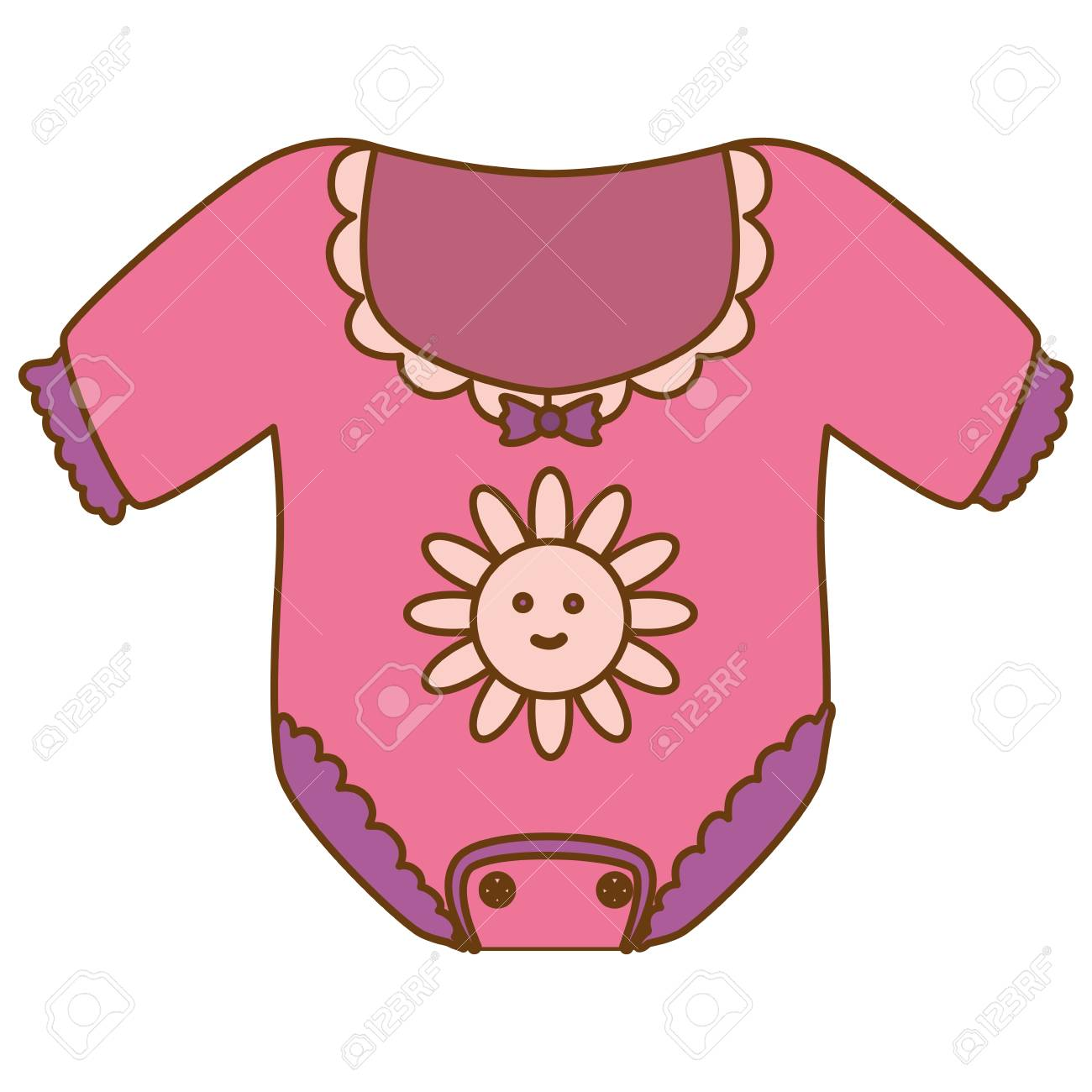 Girl Onesie Baby Shower Related Icon Image Vector Illustration