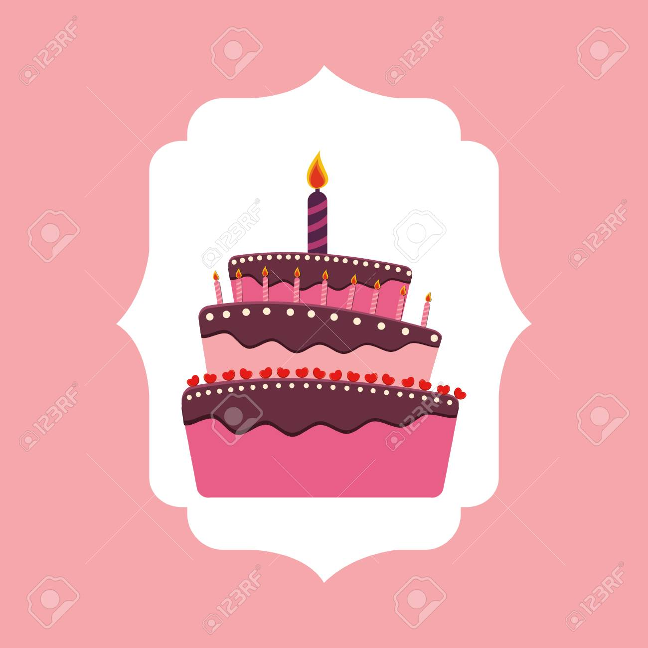Sensational Happy Birthday Cake Icon Vector Illustration Graphic Design Funny Birthday Cards Online Alyptdamsfinfo