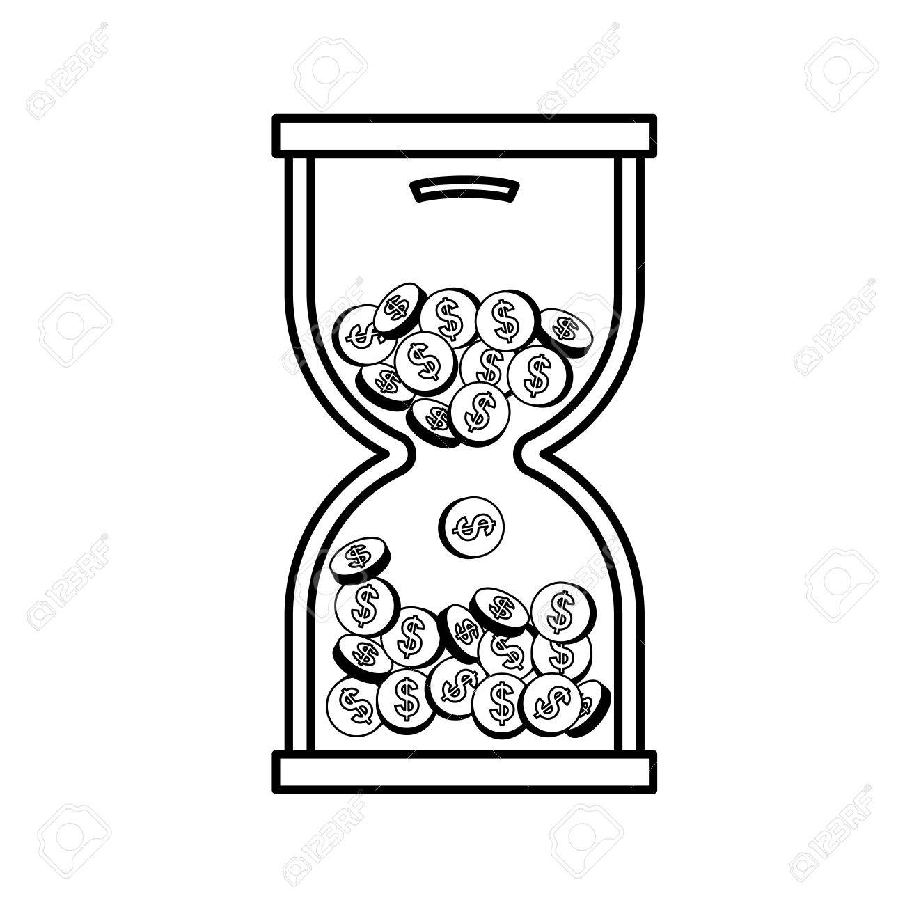 coins in time hourglass icon vector illustration graphic design Time Hourglass Quotes coins in time hourglass icon vector illustration graphic design stock vector 68007855