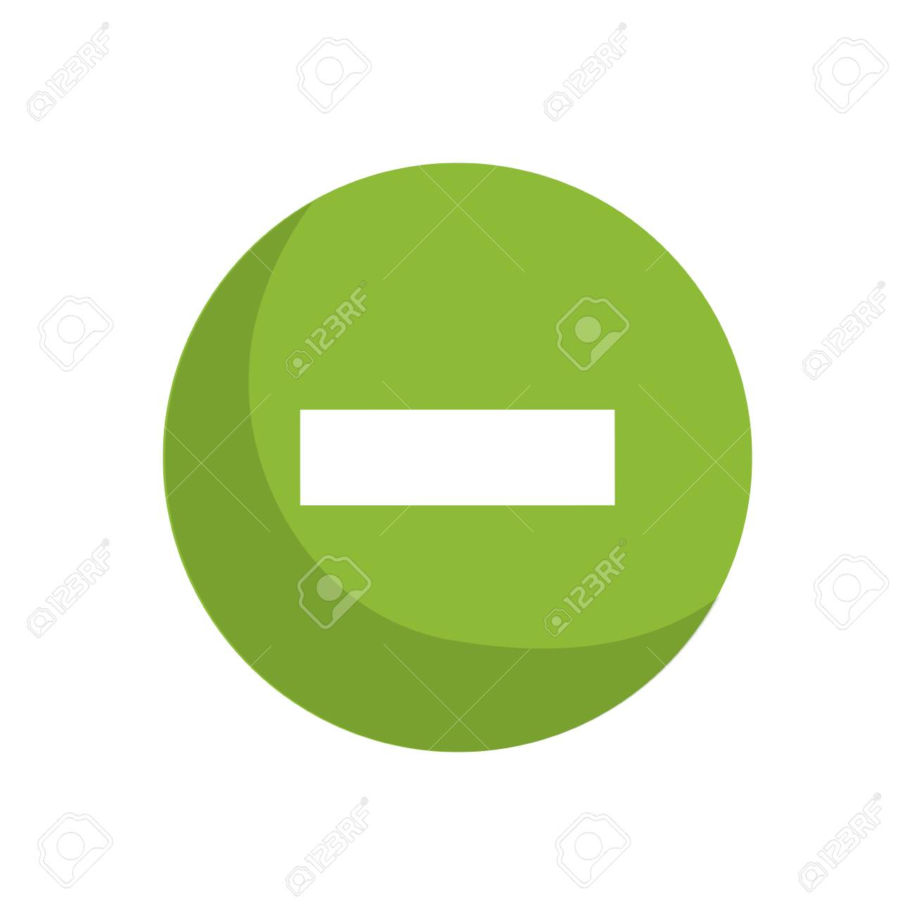 Subtraction Button Sign Icon Vector Illustration Graphic Design ...
