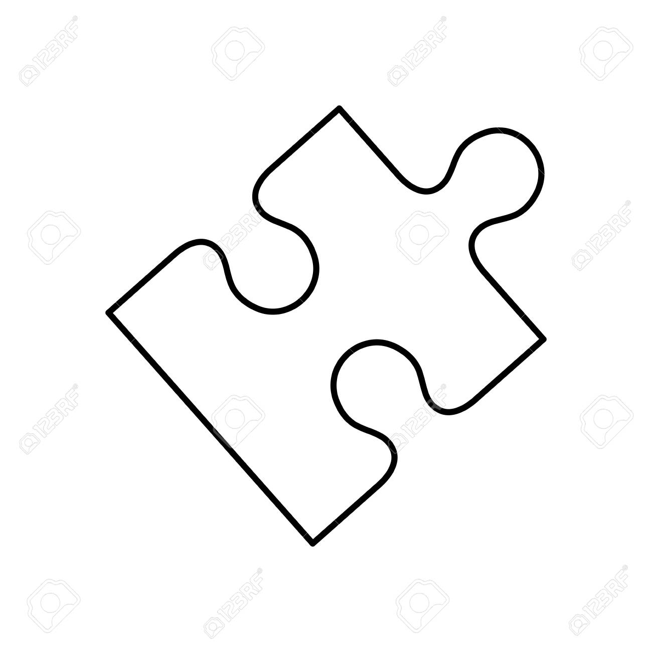 puzzle pieces concept icon vector illustration graphic design