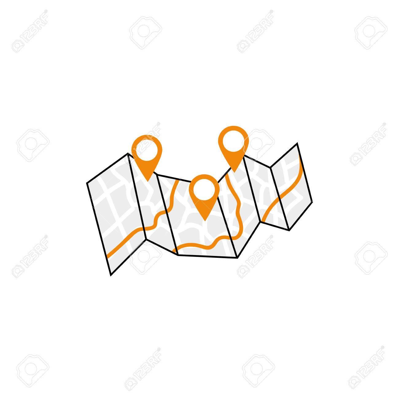 city map location icon vector illustration graphic design royalty