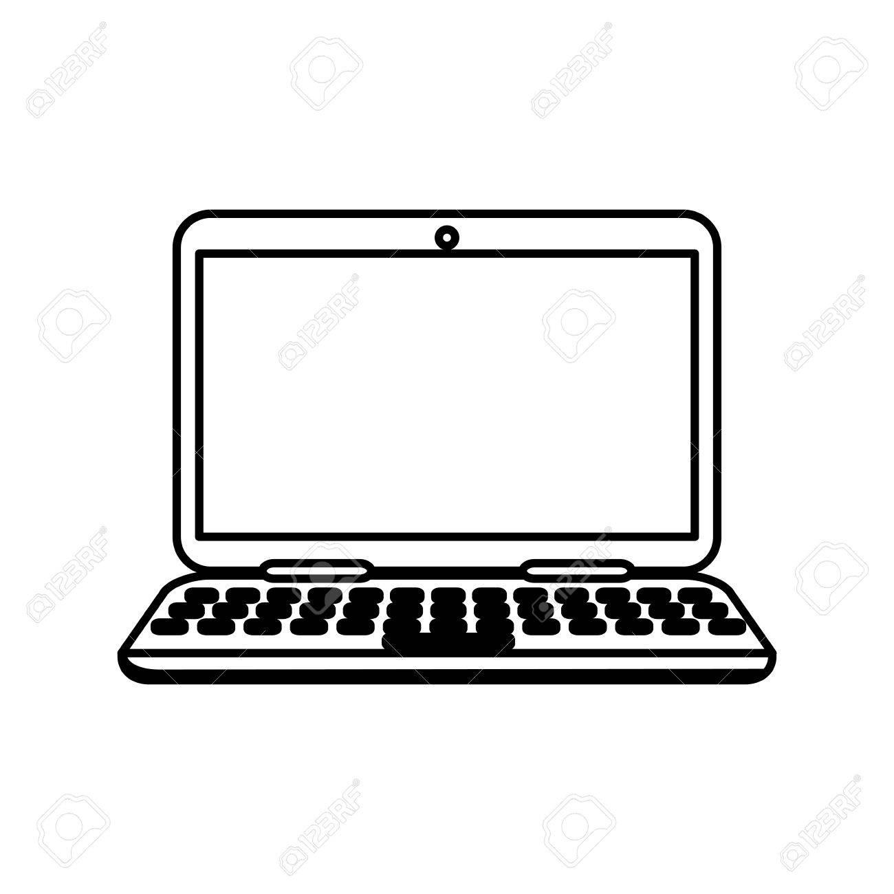 laptop computer technology icon vector illustration graphic design