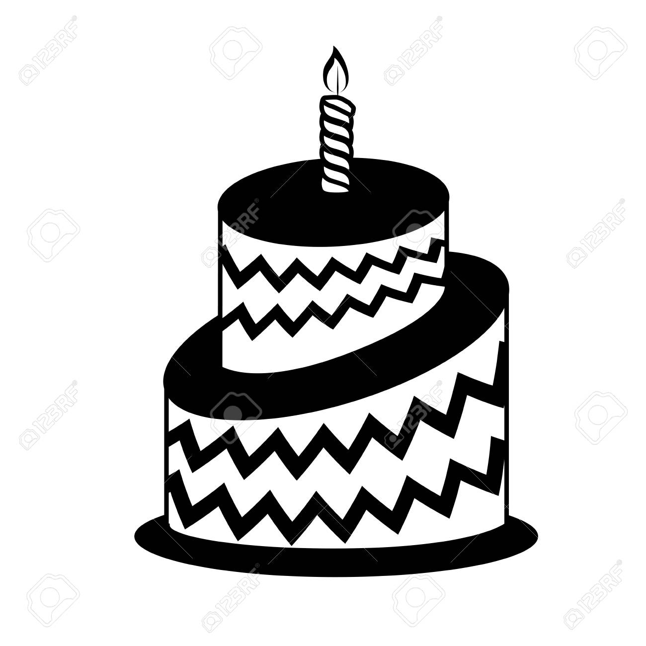 Astounding Birthday Cake Icon Over White Background Vector Illustration Funny Birthday Cards Online Alyptdamsfinfo