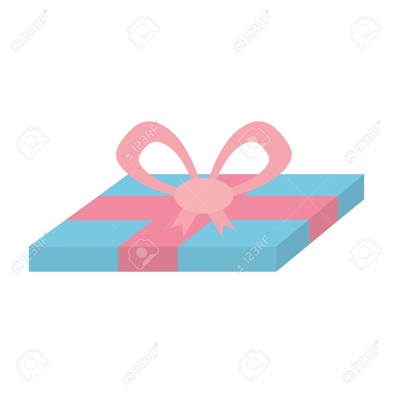 blue gift box pink ribbon surprise vector illustration eps 10 rh 123rf com pink ribbon clip art free download pink ribbon clip art free download
