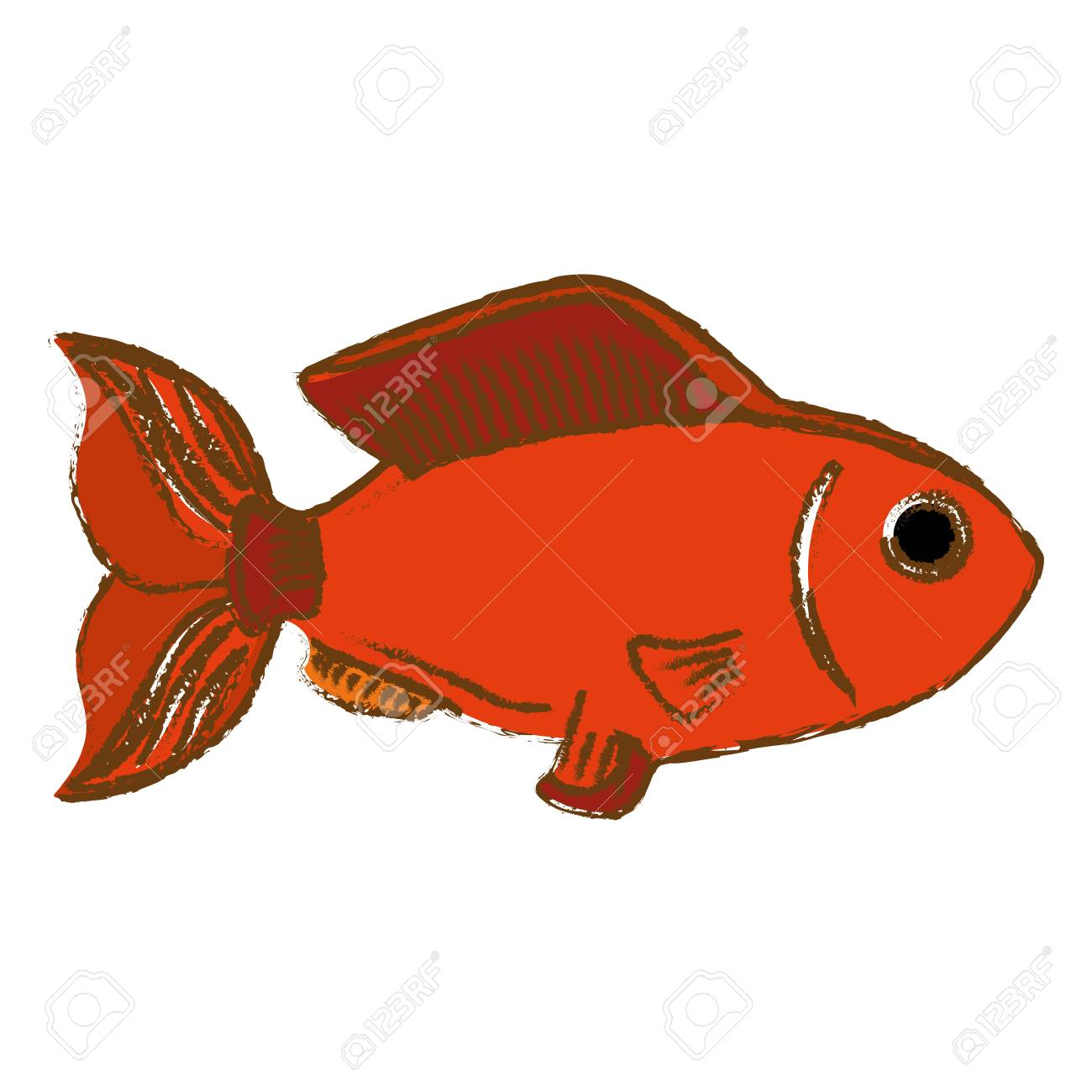 Colorful Fish Icon Image Vector Illustration Design Royalty Free ...