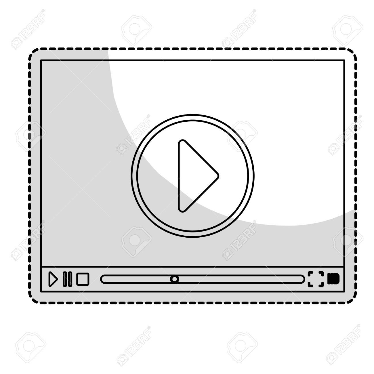 Play Symbol On Digital Platform Movie Or Video Related Icon Image