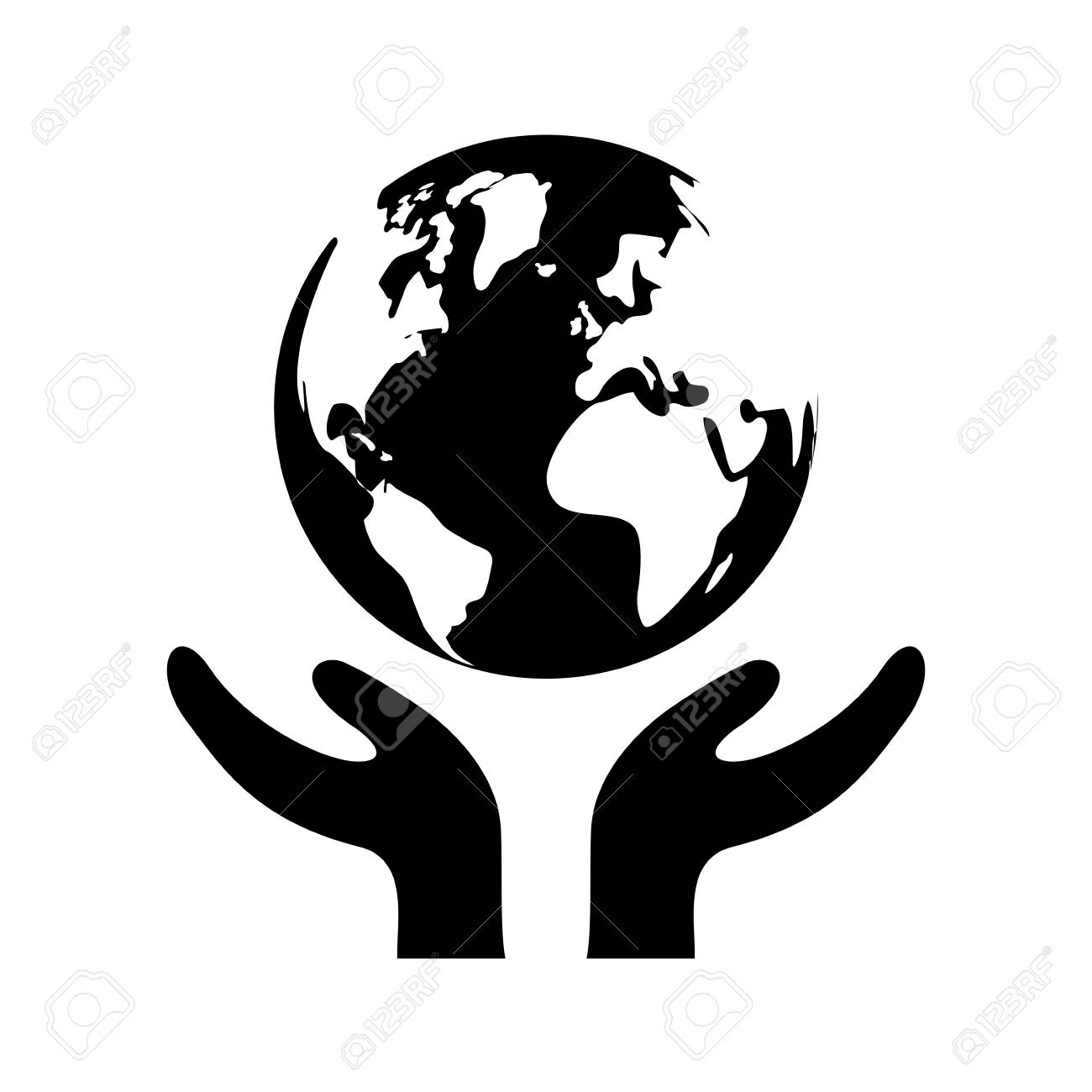 Save The World Icon Vector Illustration Graphic Design Royalty Free