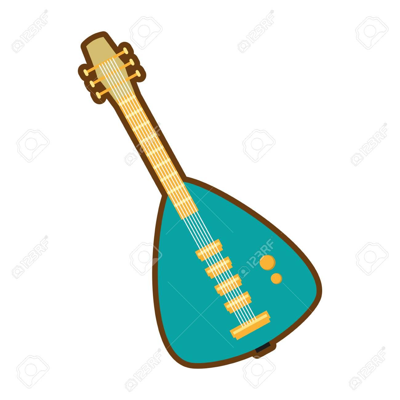 Ilustración De Vector De Icono De Instrumento De Guitarra Eléctrica Verde De Dibujos Animados Eps 10