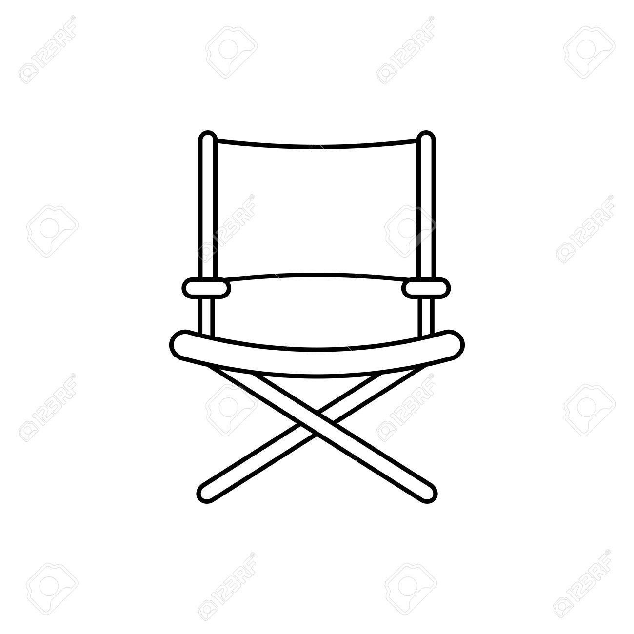Directors Chair Isolated Icon Vector Illustration Graphic Design Stock  Vector   70085142