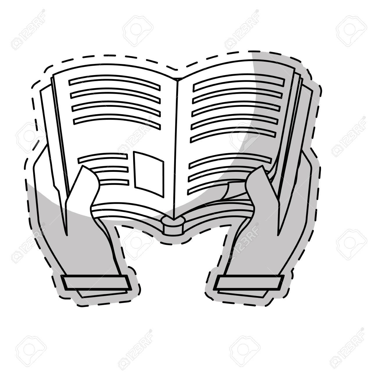 Livre Blanc Dans L Image De L Icone De Mains Illustration Vectorielle