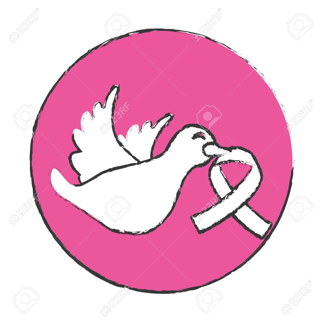 Emblem dove with breast cancer symbol in the beak icon design emblem dove with breast cancer symbol in the beak icon design image stock vector 70387998 biocorpaavc Gallery