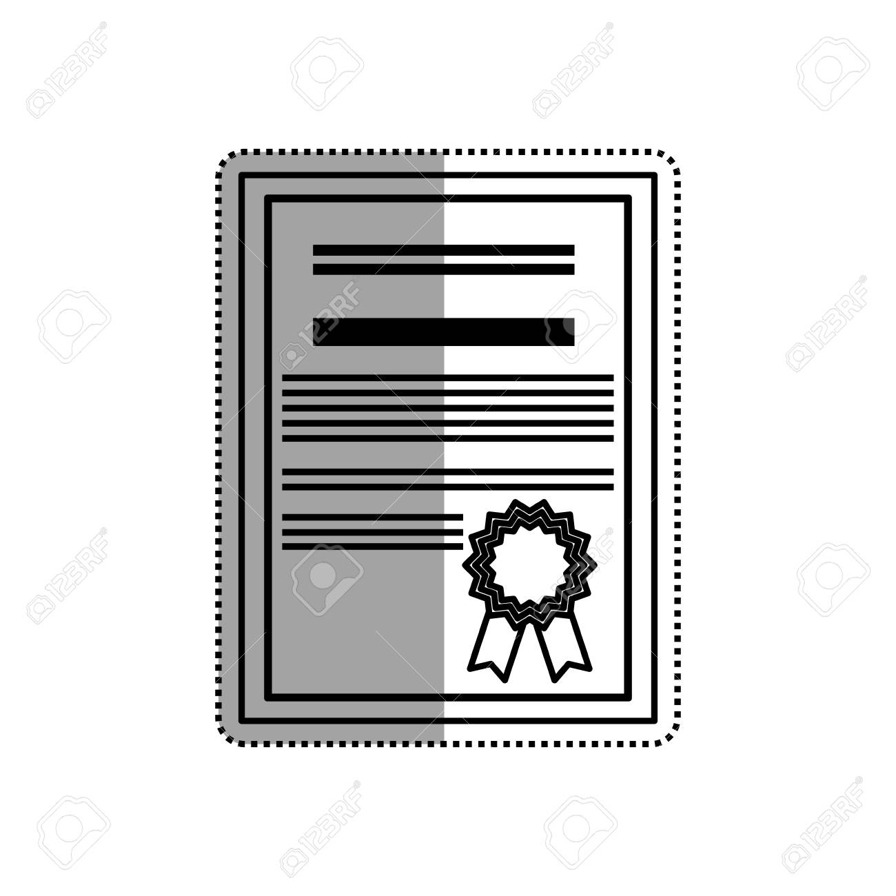 Diploma Education Certification Icon Vector Illustration Graphic
