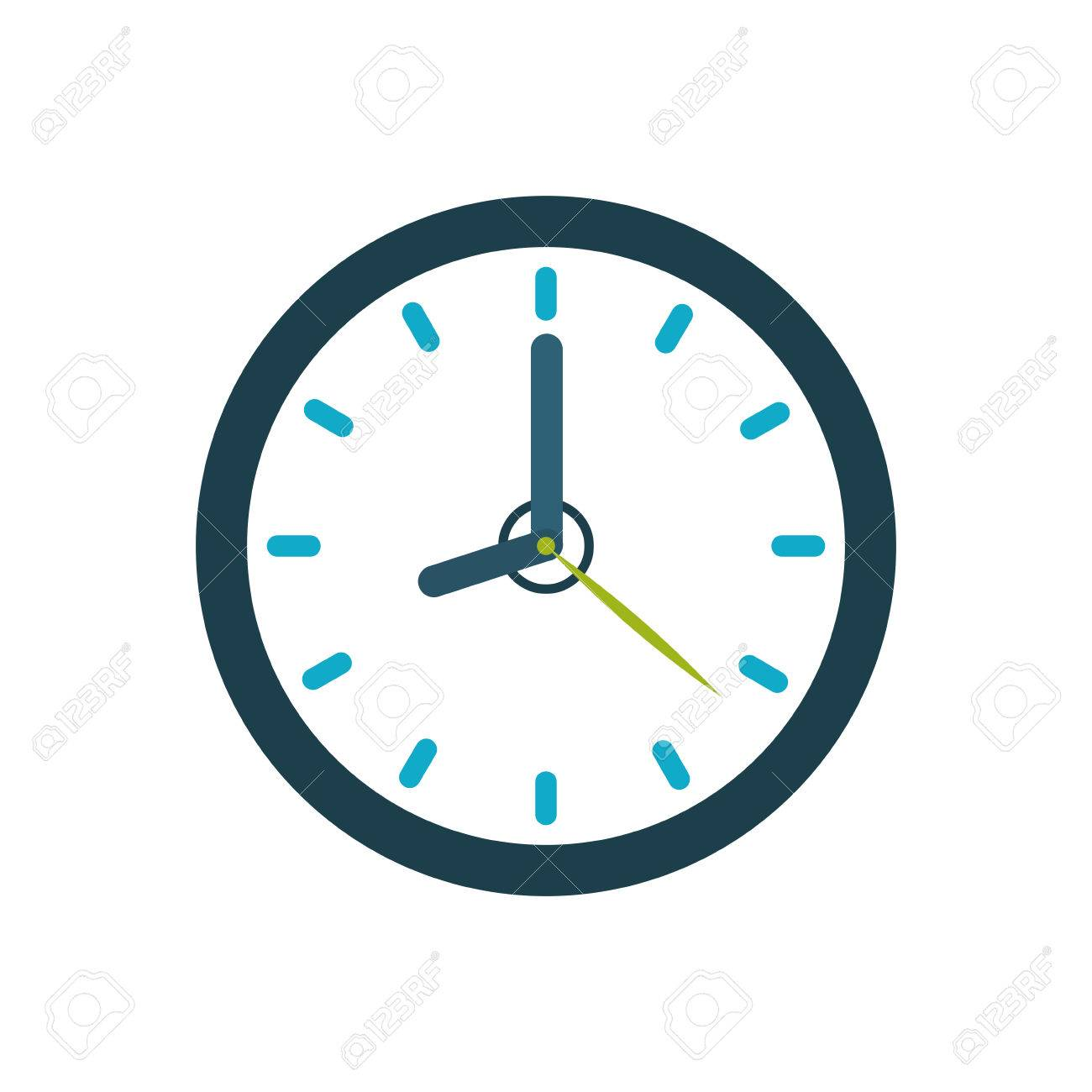 isolated time clock icon vector illustration graphic design royalty