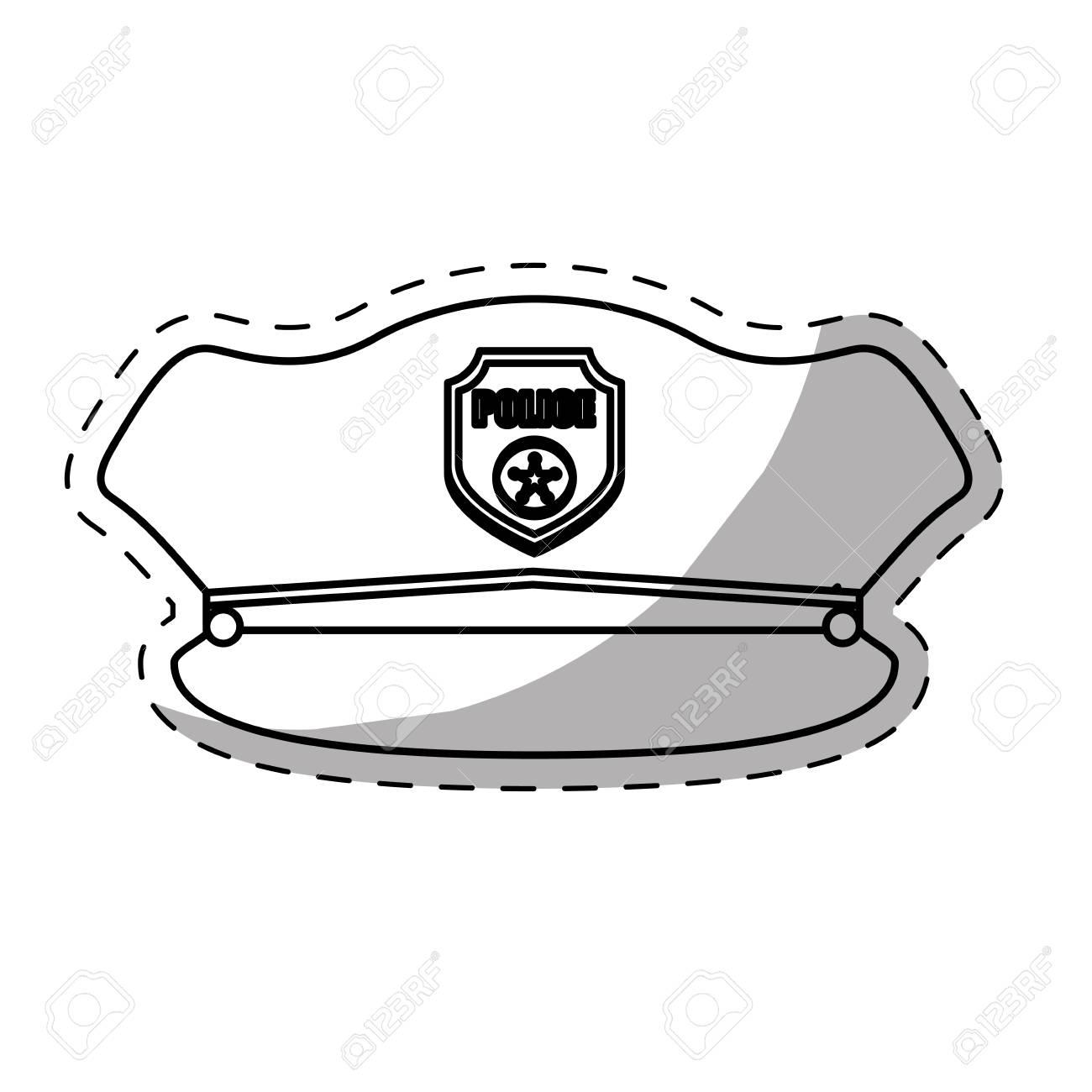 e70b1078a81 Figure Hat Police Icon Image