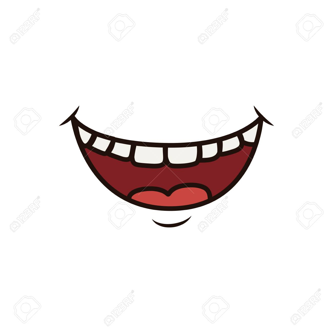 Banque dimages mouth laughing dessin animé icône illustration vectorielle design graphique