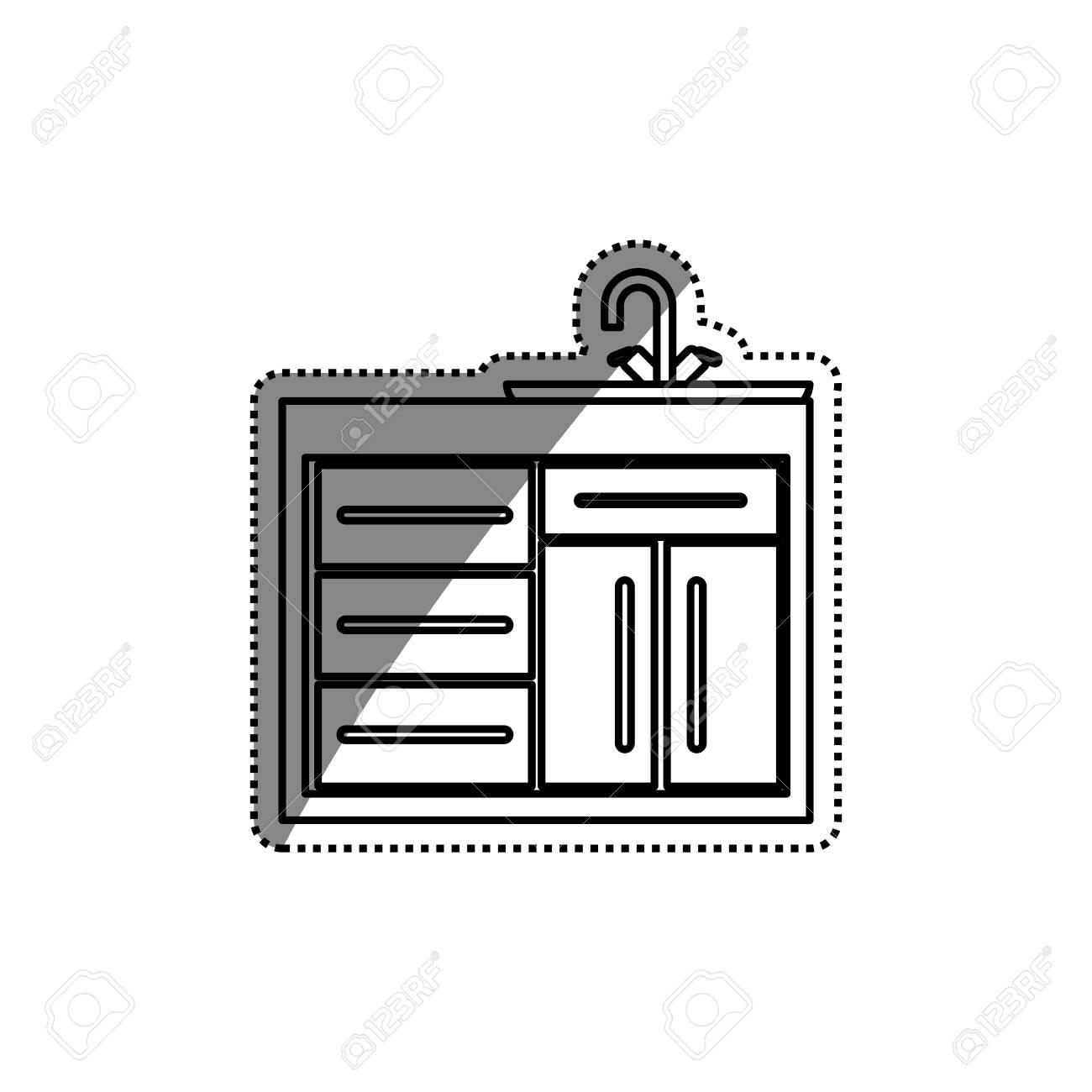 Küchenschrank Design Icon Illustration Grafik Design. Lizenzfrei ...