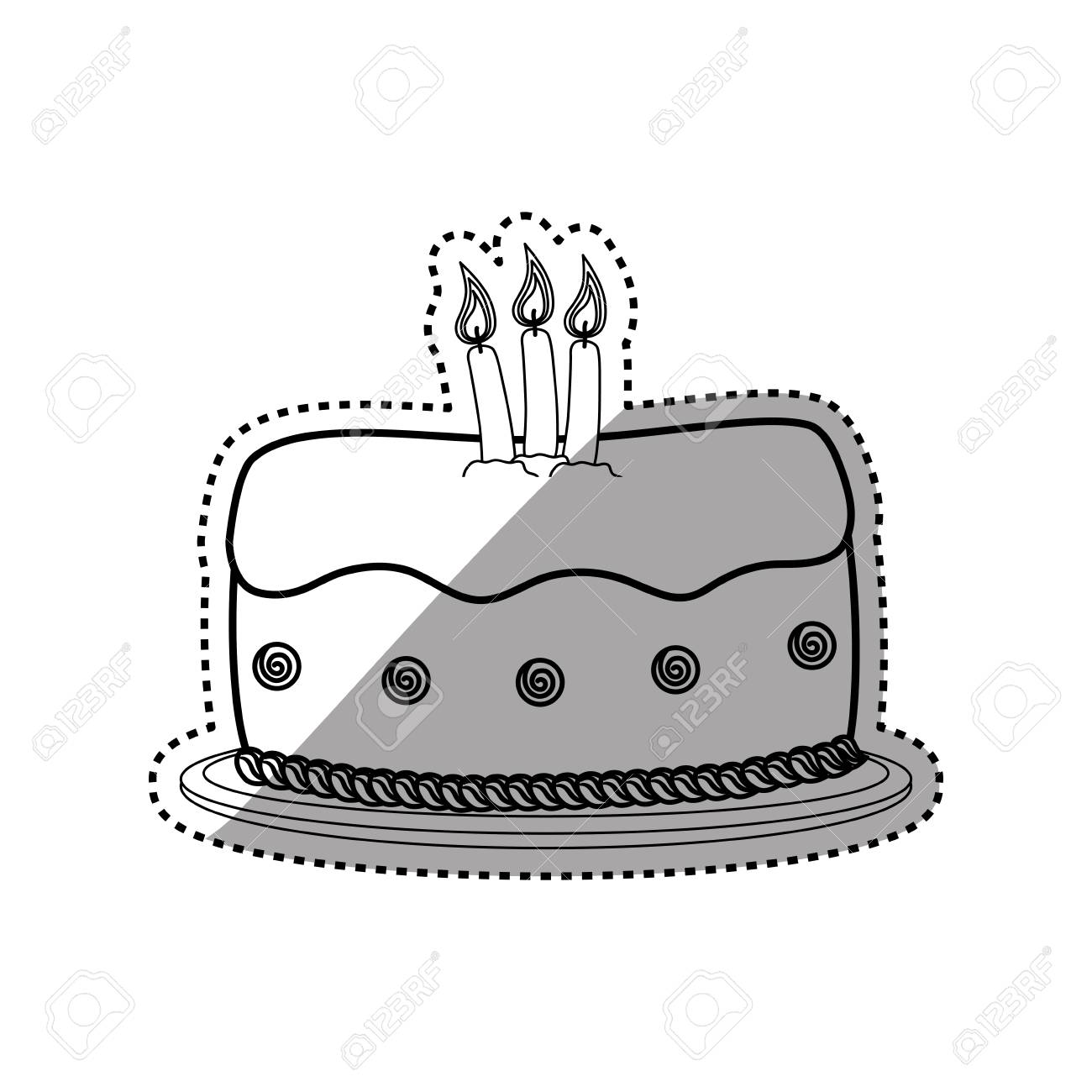 Delicious Birthday Cake Icon Illustration Graphic Design Royalty Free Cliparts Vectors And Stock Illustration Image 72225263
