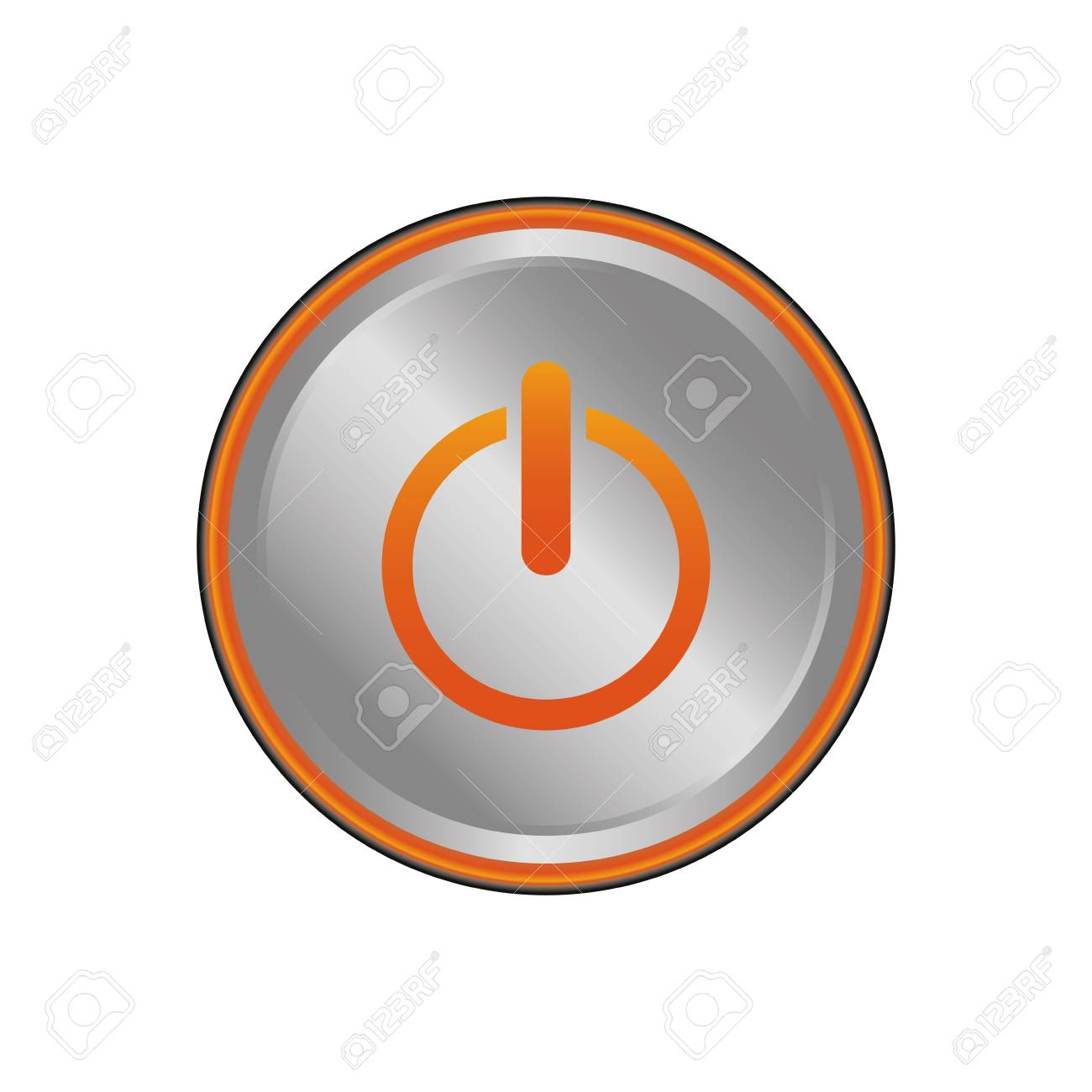 On Off Switch Power Icon Vector Illustration Graphic Design Royalty ...