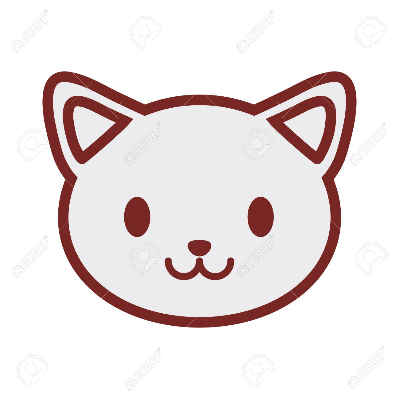 cute cat face image vector illustration royalty free cliparts