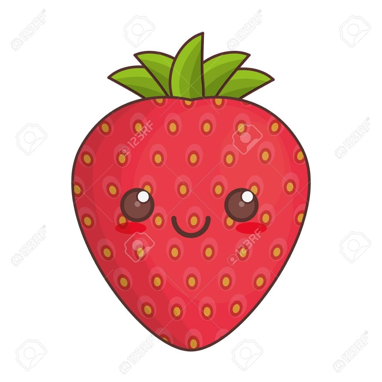 かわいいイチゴ果実アイコン ベクトル イラスト Eps 10のイラスト素材 ベクタ Image