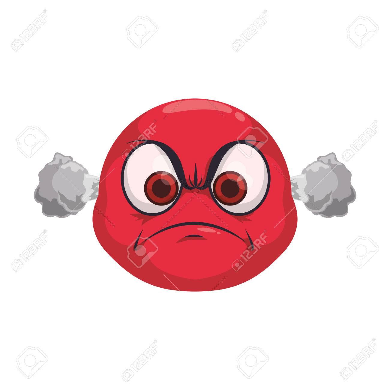 angry cartoon face icon vector illustration graphic design royalty rh 123rf com angry cartoon face pic angry cartoon face pic