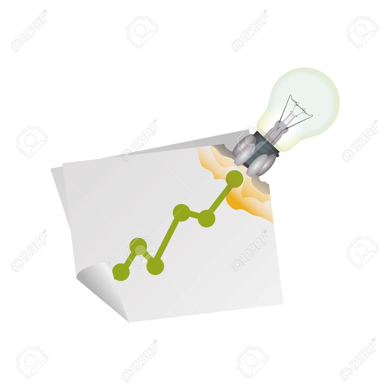 Birne Elektrische Energie Symbol Vektor Ilustration Grafikdesign ...