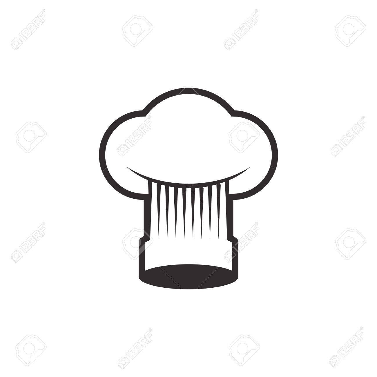 Chef Hat Toque Vecteur Icône Illustration Dessin