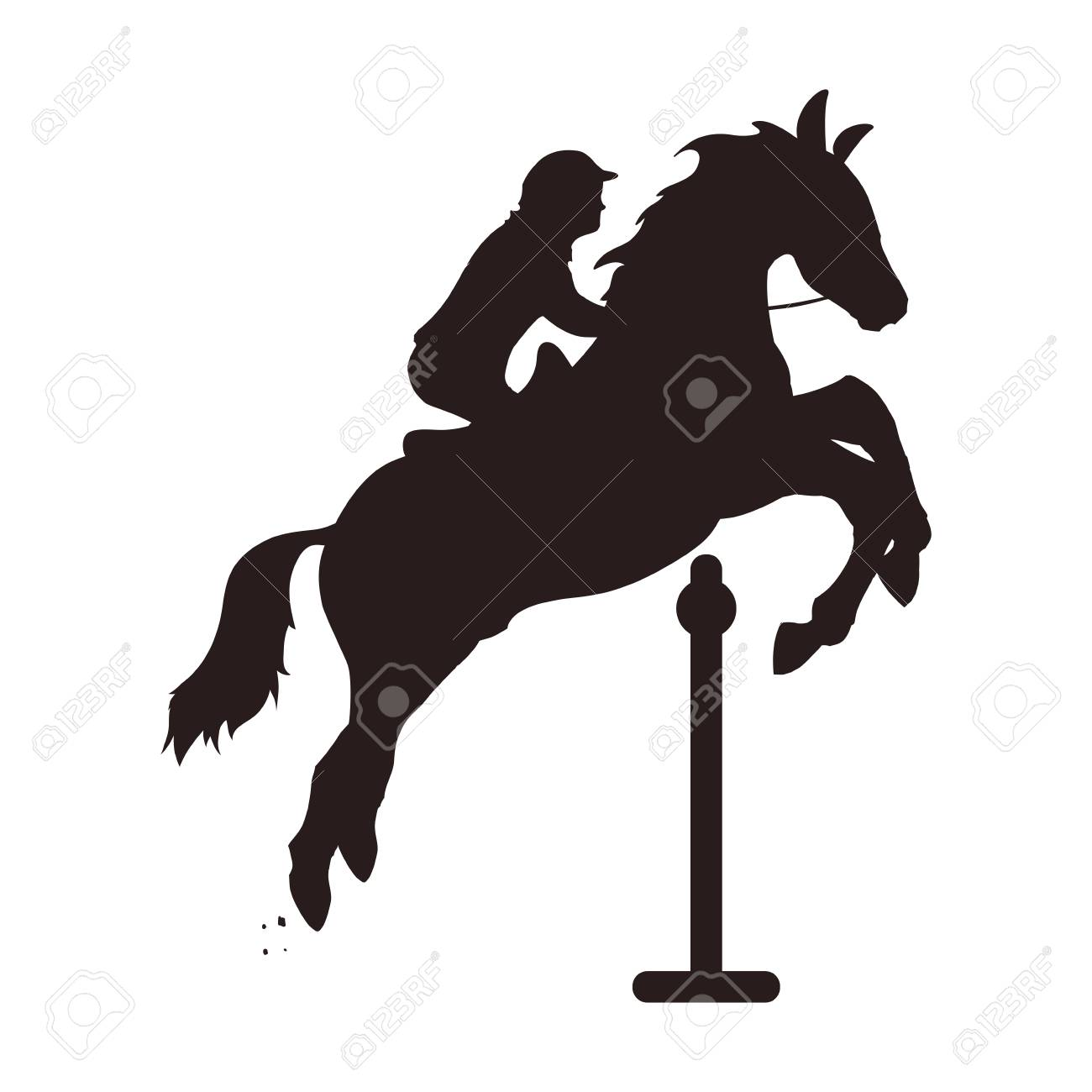 Horse Riding Equestrian Sport Icon Vector Illustration Graphic Royalty Free Cliparts Vectors And Stock Illustration Image 75240602