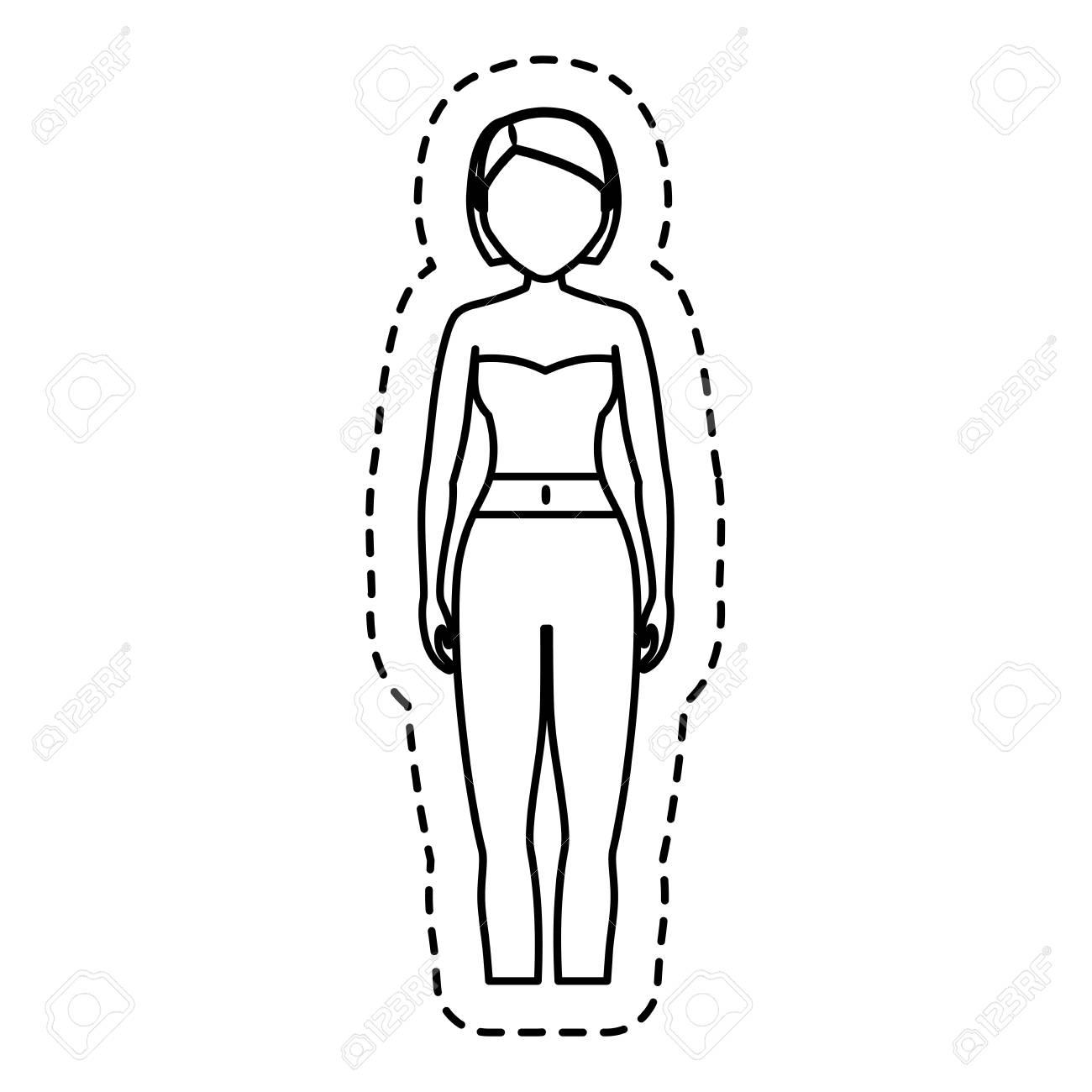 98ef83b52 Foto de archivo - Mujer vestida con ropa casual