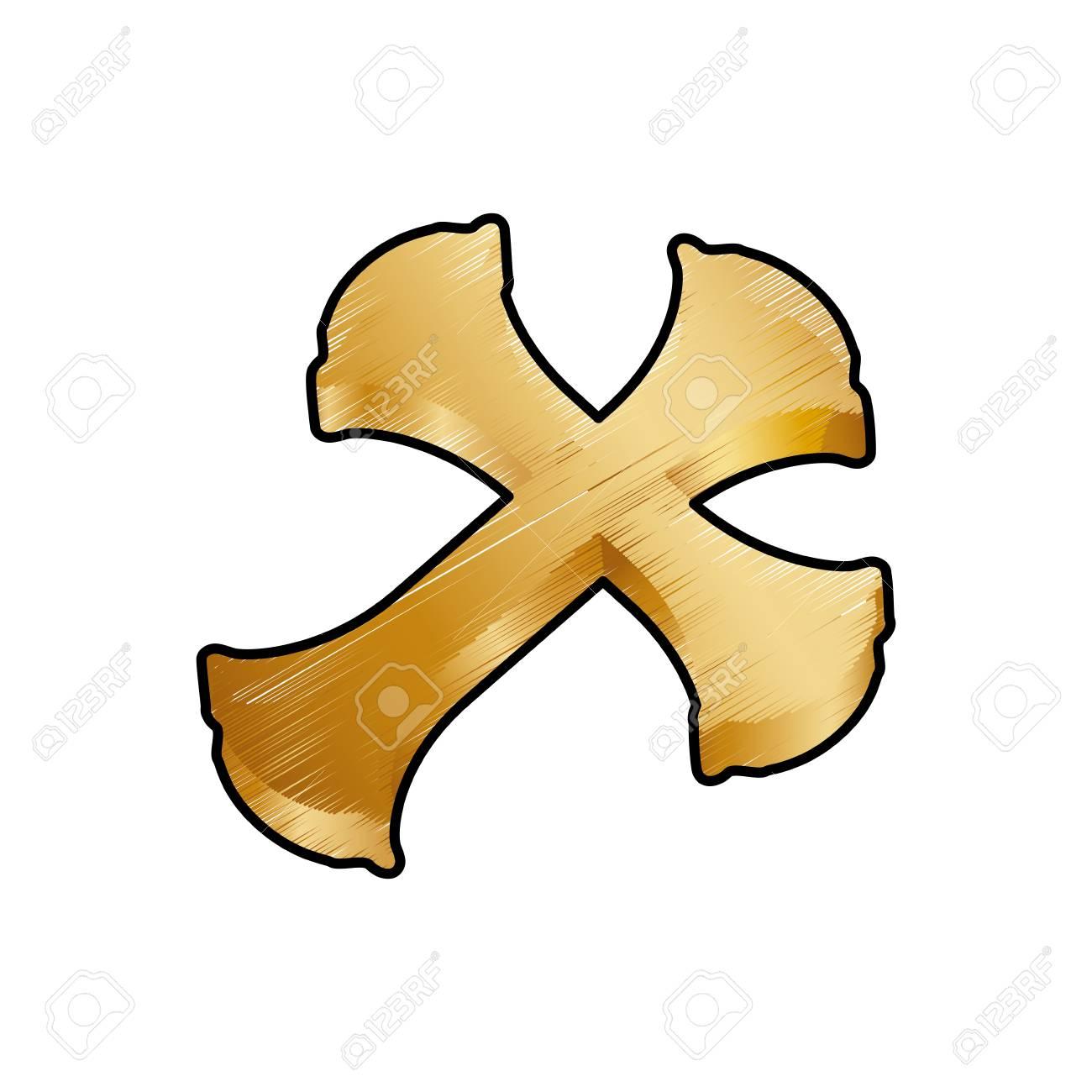 キリスト教の十字シンボル アイコン ベクトル イラスト グラフィック
