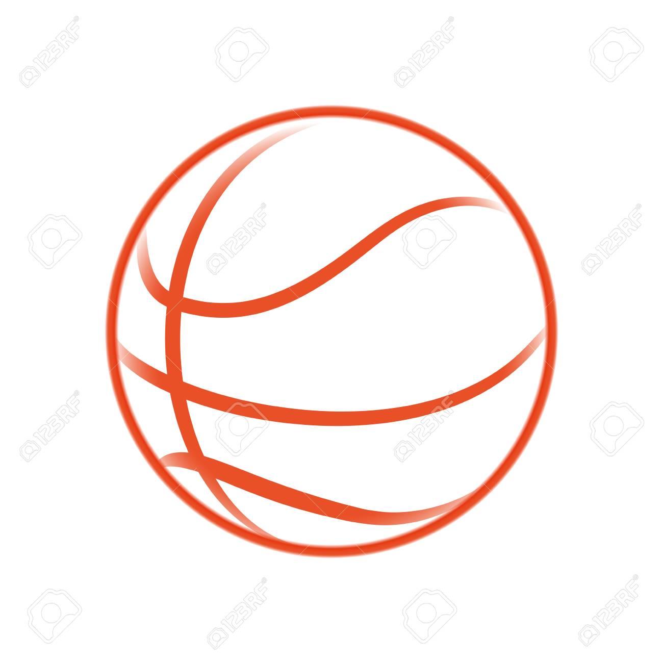 Basketball Ball Game Icon Vector Illustration Graphic Design Royalty
