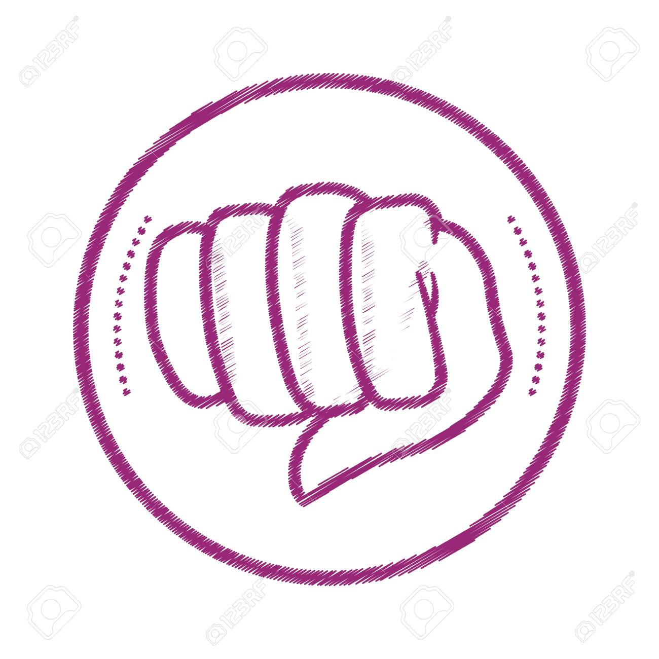 Fist hand symbol icon vector illustration graphic design