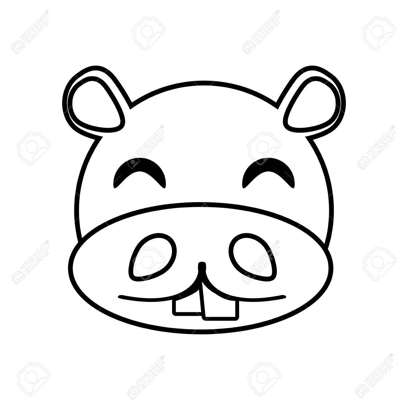 hippo face template - 450×450