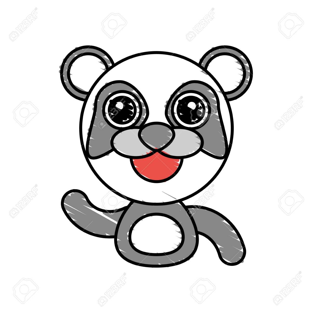 Draw Panda Animal Comic Vector Illustration Eps 10
