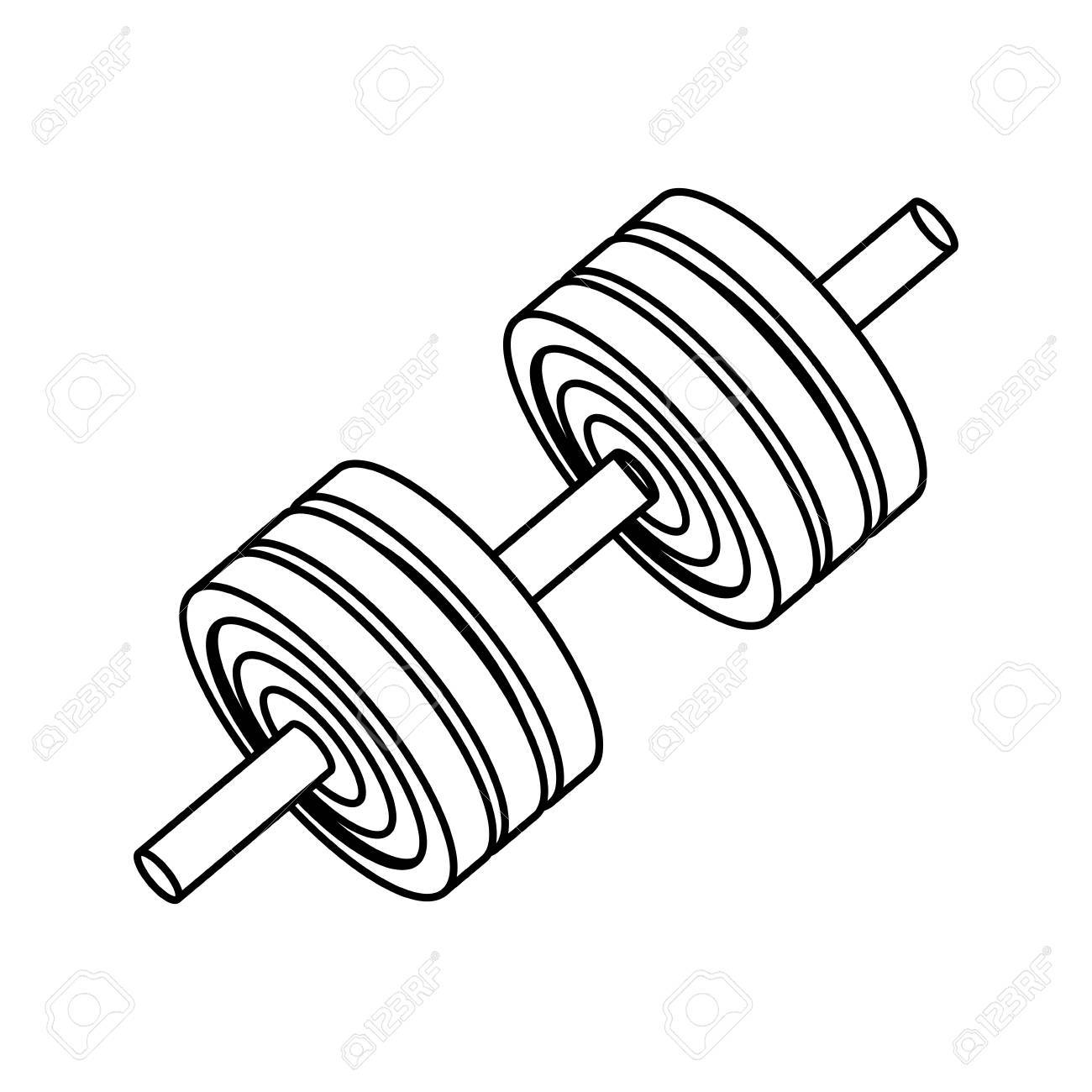 Gym And Fitness Equipment Icon Vector Illustration Graphic Design Royalty Free Cliparts Vectors And Stock Illustration Image 76272144
