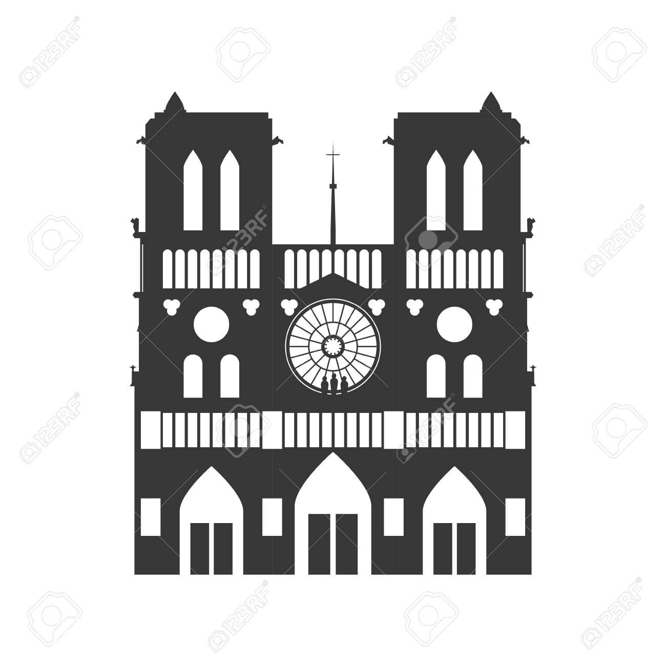 ノートルダム大聖堂 イラスト