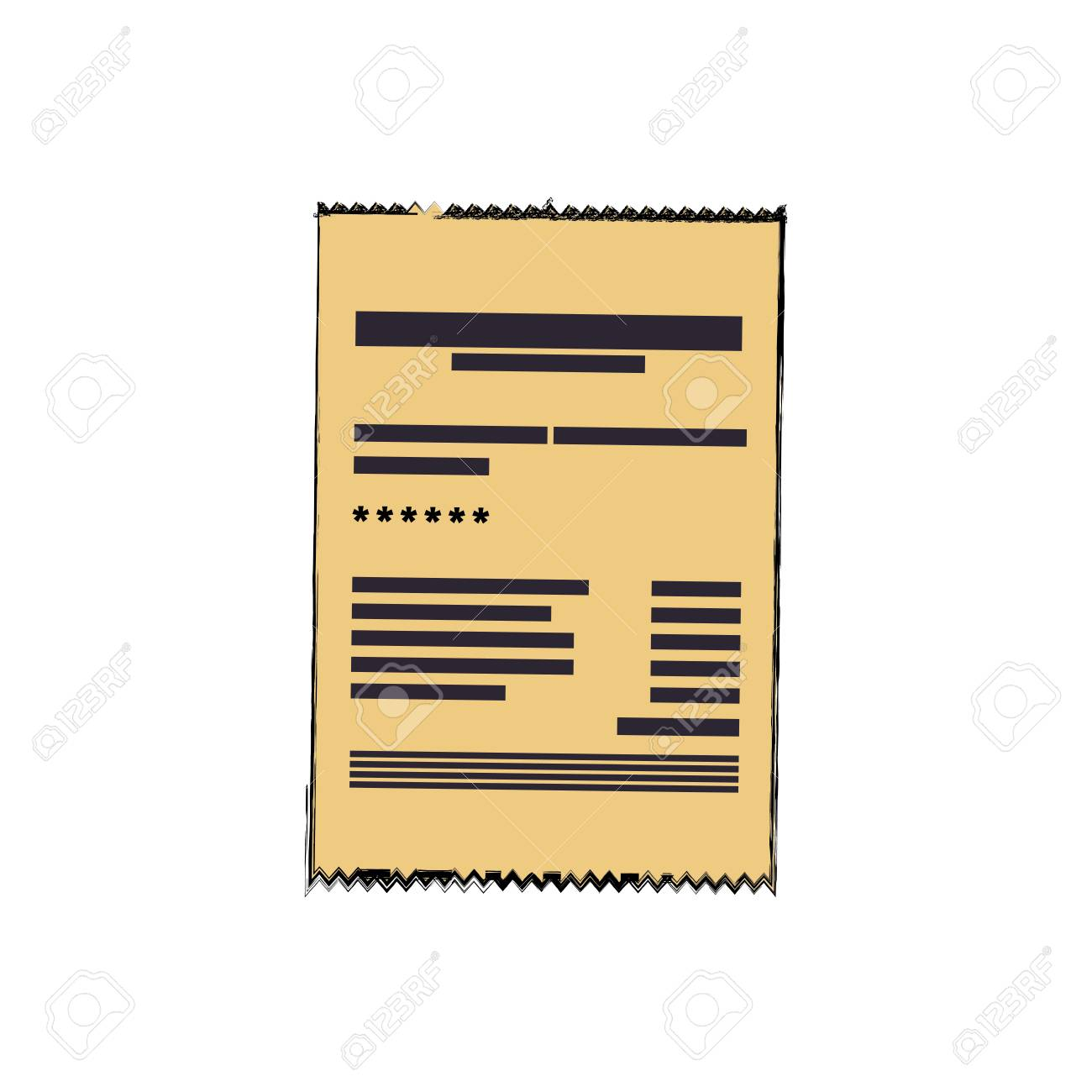 Invoice Sheet Document Icon Vector Illustration Graphic Design ...