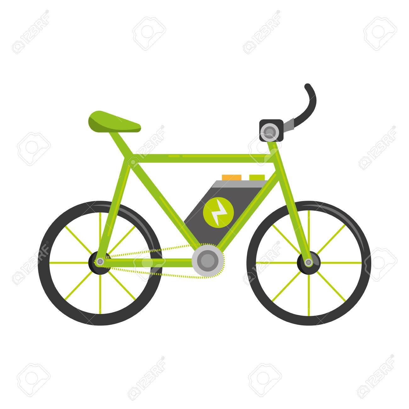 bicycle ecology vehicle isolated icon vector illustration design - 76374636